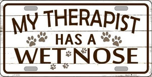 My Therapist Wholesale Metal Novelty License Plate