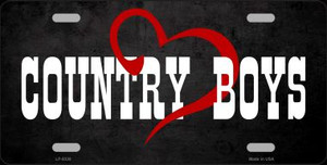 Country Boys Novelty Wholesale Metal License Plate