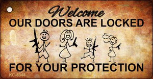 Doors Locked Your Protection Wholesale Novelty Key Chain