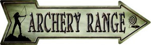 Archery Range Novelty Metal Arrow Sign