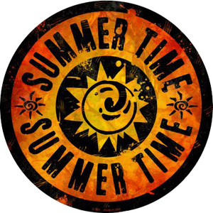 Summer Time Wholesale Novelty Metal Circular Sign C-589