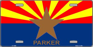 Parker Arizona State Flag Wholesale Metal Novelty License Plate LP-1830