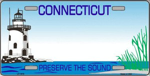 Connecticut State Background Blank Novelty Wholesale Metal License Plate