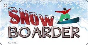Snow Boarder Wholesale Novelty Key Chain
