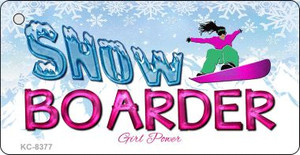 Snow Boarder Girl Wholesale Novelty Key Chain