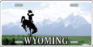 Wyoming State Background Novelty Wholesale Metal License Plate