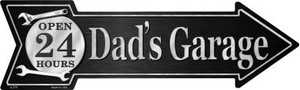 Dads Garage Wholesale Novelty Metal Arrow Sign