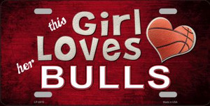 This Girl Loves Her Bulls Novelty Wholesale Metal License Plate
