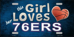 This Girl Loves Her 76ers Novelty Wholesale Metal License Plate