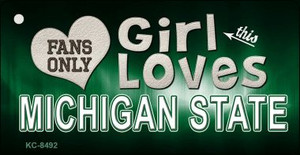 This Girl Loves Michigan State Wholesale Novelty Key Chain