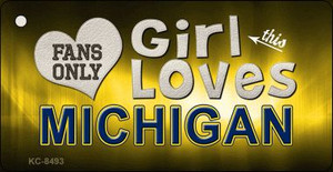 This Girl Loves Michigan Wholesale Novelty Key Chain