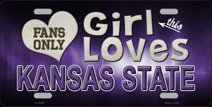This Girl Loves Kansas State Novelty Wholesale Metal License Plate