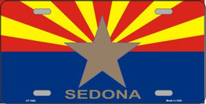Sedona Arizona State Flag Wholesale Metal Novelty License Plate LP-1862