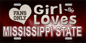 This Girl Loves Mississippi State Novelty Wholesale Metal License Plate