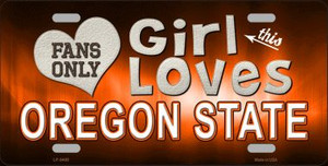 This Girl Loves Oregon State Novelty Wholesale Metal License Plate