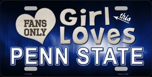 This Girl Loves Penn State Novelty Wholesale Metal License Plate