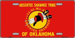 Absentee Shawnee Tribe Flag Wholesale Metal Novelty License Plate LP-1865