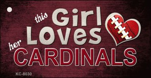 This Girl Loves Her Cardinals Wholesale Novelty Key Chain