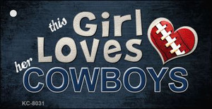 This Girl Loves Her Cowboys Wholesale Novelty Key Chain