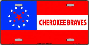 Cherokee Braves Flag Wholesale Metal Novelty License Plate LP-1867