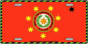 Cherokee Nation Flag Wholesale Metal Novelty License Plate LP-1868