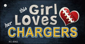 This Girl Loves Her Chargers Wholesale Novelty Key Chain