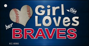 This Girl Loves Her Braves Wholesale Novelty Key Chain