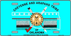 Cheyenne Arapaho Flag Wholesale Metal Novelty License Plate LP-1869