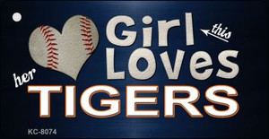 This Girl Loves Her Tigers Wholesale Novelty Key Chain