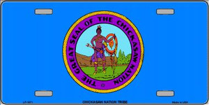 Chickasaw Nation Flag Wholesale Metal Novelty License Plate LP-1871