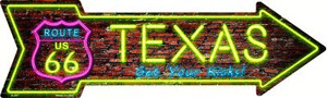 Texas Neon Wholesale Novelty Metal Arrow Sign