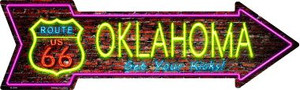 Oklahoma Neon Wholesale Novelty Metal Arrow Sign