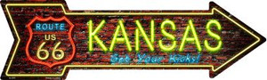 Kansas Neon Wholesale Novelty Metal Arrow Sign