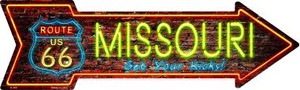 Missouri Neon Wholesale Novelty Metal Arrow Sign