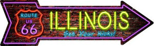 Illinois Neon Wholesale Novelty Metal Arrow Sign