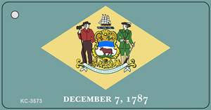 Delaware State Flag Novelty Wholesale Key Chain KC-3573