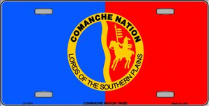 Comanche Nation Flag Wholesale Metal Novelty License Plate LP-1874