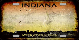 Indiana Rusty State Background Wholesale Metal Novelty License Plate