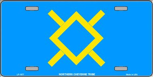Northern Cheyenne Flag Wholesale Metal Novelty License Plate LP-1877