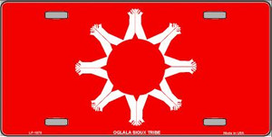 Oglala Sioux Tribe Flag Wholesale Metal Novelty License Plate LP-1878