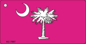 South Carolina Flag Pink Wholesale Novelty Key Chain KC-7897
