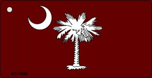 South Carolina Flag Burgundy Wholesale Novelty Key Chain