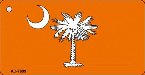 South Carolina Flag Orange Wholesale Novelty Key Chain