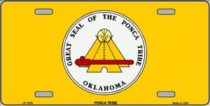 Ponca Tribe Flag Wholesale Metal Novelty License Plate LP-1879