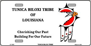 Tunica Biloxi Flag Wholesale Metal Novelty License Plate LP-1882