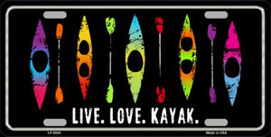 Live Love Kayak Wholesale Metal Novelty License Plate