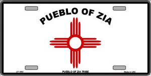 Zia Pueblo Flag Wholesale Metal Novelty License Plate LP-1883