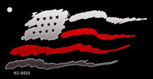 American Flag Thin Red Line Wholesale Novelty Key Chain