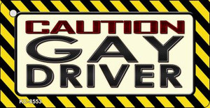 Caution Gay Driver Wholesale Novelty Key Chain