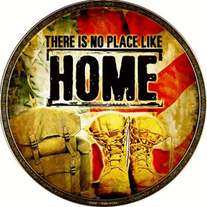 There Is No Place Like Home Wholesale Novelty Metal Circular Sign